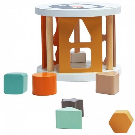 Figurine en bois à construire et à colorier