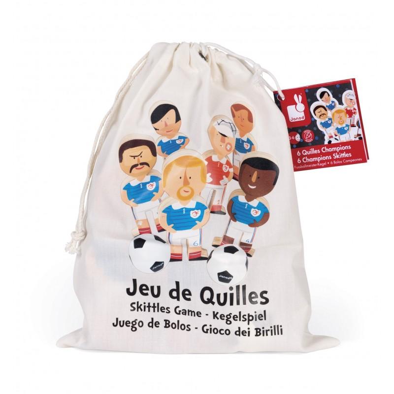 Jeu De Quilles Champions Bois Janod