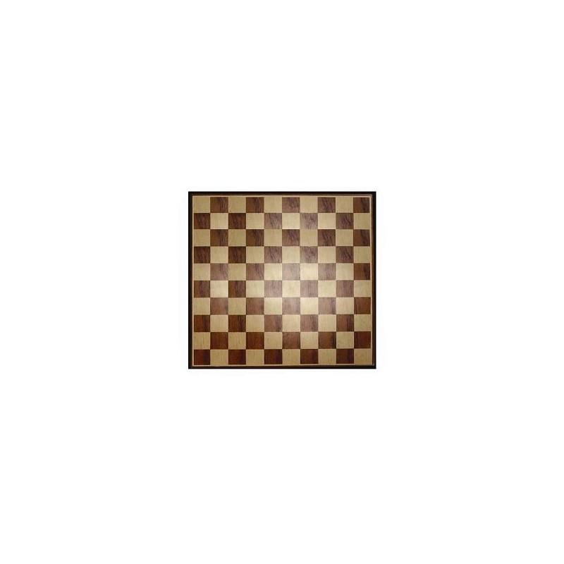 Damier en bois marqueté - 40 cm