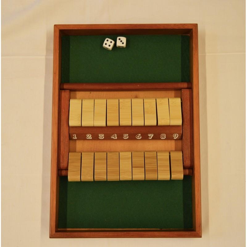 Shut the box 9 en bois